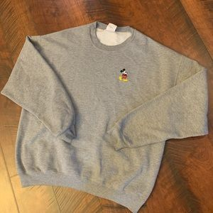 Mickey mouse oversized crew neck